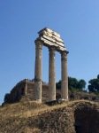 temple of Castor and Pollux at Rome Forum