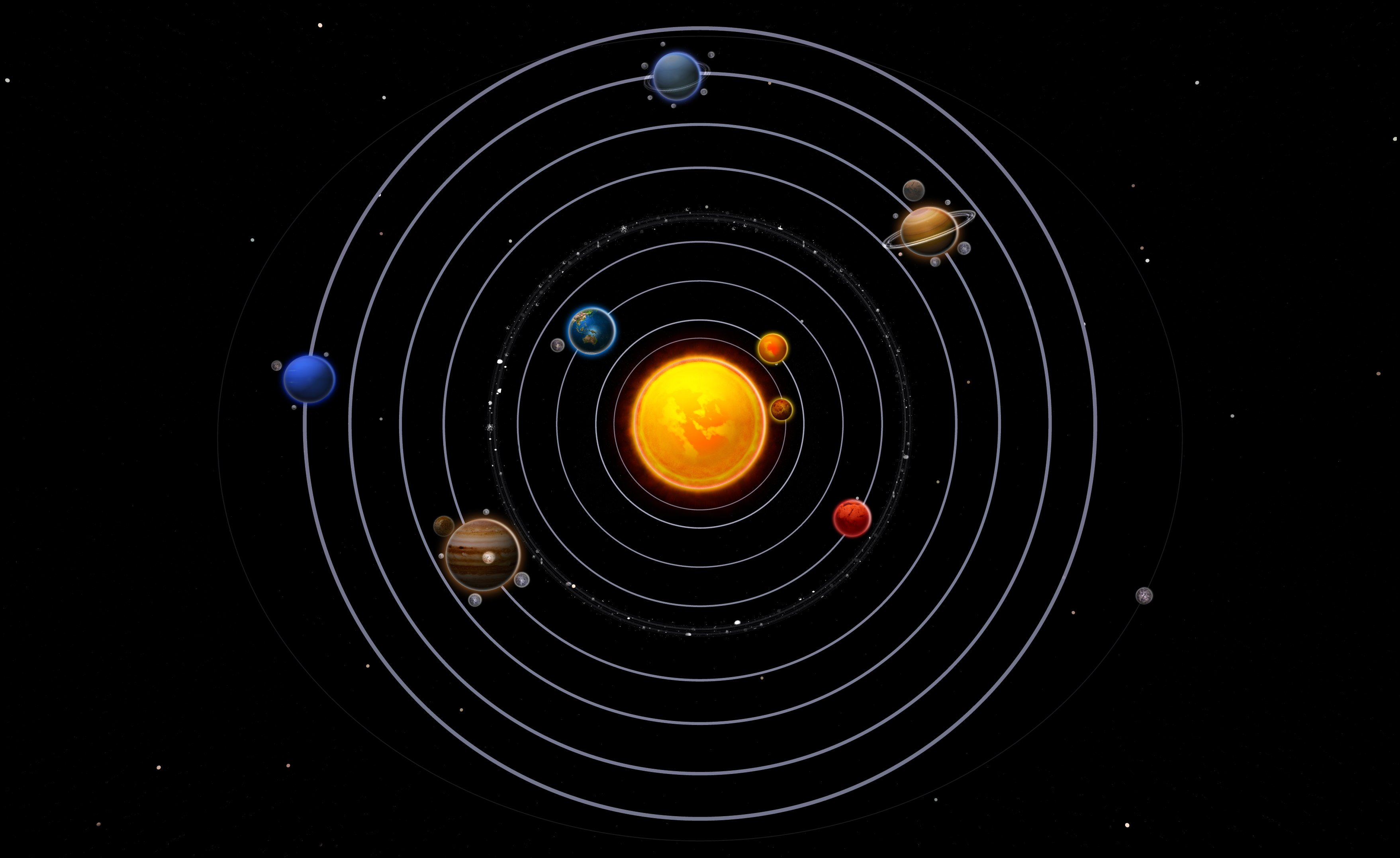 planets orbiting video - HD 2880×1800