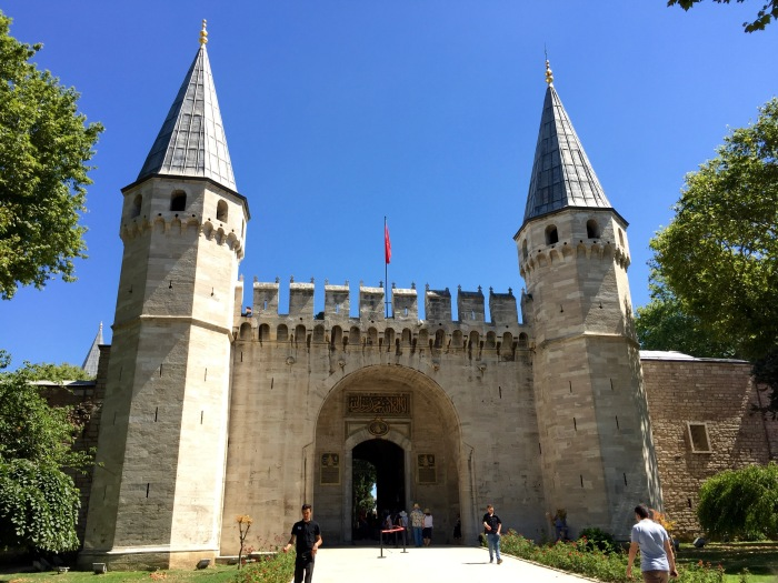 Entrance to Topkapi Palace, photo by author