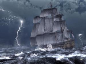 ship in a storm by Daniel Eskridge