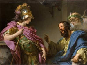 Socrates teaches Alcibiades